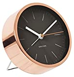 Karlsson Present Time Minimal Wecker, Kupfer Negro cobre