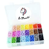 La Manuli Iron Beads Bügelperlen Dose 4500 Stück 24 Farben erfüllung Set Handwerk DIY Spielzeug