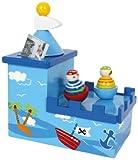 Spieluhr mit Spardose Olli & Bolli aus Holz, im kindgerechten Piratendesign, fördert die Freude an...