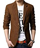 Allthemen Slim Fit Freizeit Herren Blazer Sakko Braun Medium