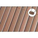 TOP MULTI PVC Sichtschutz-Matte für Balkon / Garten 0,9m x 3m in Makassar Braun   Sichtschutz-Zaun...