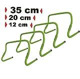 BAY 4er Set Hürden ' VERSTELLBAR ' 35 cm und 12 / 20 cm Trainingsprodukt Speed Hurdles -...