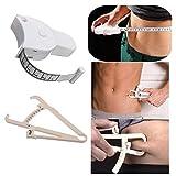 Boolavard Körperfett-Taster und Maßband für Bodyfold Body Fat Analyzer und BMI-Messgerät