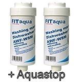 Fit aqua AC-WSM AM-SET-II 2 x Kalkfilter Spülmaschine Geschirrspüler Waschmaschinenfilter...