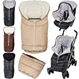 2in1 Winterfußsack (0 bis 36 Monate) für Babyschale/Kinderwagenschale / Kinderwagen/Buggy...