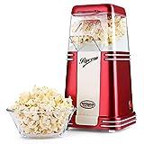 NOSTALGIA ELEKTRIK Heißluft Popcorn Maker Mais-Popper-Maschine mit Transparentem Gehäuse