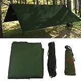 Wasserdicht Zeltplane mit Öse für Camping und Outdoor mit Tragetasche ( Farbe : Grün )