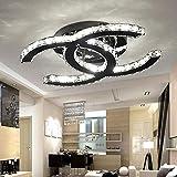 28W LED Deckenleuchte Moderne Einfache Romantische Wohnzimmer Esszimmer K9 Crystal Klar Deckenlampe...