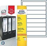 Avery Zweckform L6060-10 Ordnerrücken Etiketten (A4, 80 Rückenschilder, schmal/kurz,...