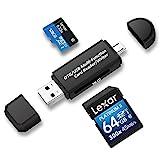 Philonext Speicherkartenleser, SD / Micro SD Kartenleser und Micro USB OTG auf USB 2.0 Adapter mit...