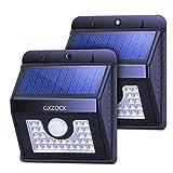 GXZOCK 30 Führte Solarleuchten, Super Helle LED-Sicherheitsbeleuchtung Im Freien Bewegungssensor...