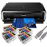 Canon Pixma iP7250 Tintenstrahldrucker mit WLAN Auto Duplex Druck (9600x2400 dpi, USB) + USB Kabel &...