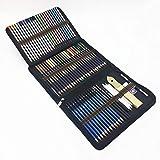 72 Stück Aquarell Buntstifte und Bleistift Zeichnen Set mit Graphitkohlestifte Sticks Werkzeuge und...