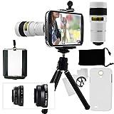 Samsung Galaxy S4 Kamera-Objektiv-Set mit einem 8x Teleobjektiv / Fisheye Objektiv / 2 in 1...
