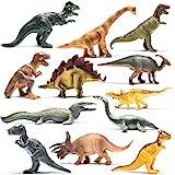 Prextex 12er-Packung realistisch aussehende 25cm große Dinosaurier aus Kunststoff in verschiedenen...