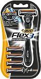 BIC Flex 3 Hybrid Rasierer Set Männer (3 Klingen, 1 Rasiergriff und 4 Ersatzklingen)