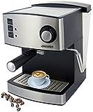 Espressomaschine | Kaffeemaschine | Milchaufschäumer | Cappuccinomaschine | Edelstahl Design | 1,6L...