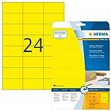 Herma 4466 Farbetiketten ablösbar (70 x 37 mm auf DIN A4 Papier matt) 480 Stück auf 20 Blatt,...