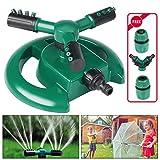 Emooqi Garten Sprinkler, Rasen Sprinkler Automatische 360 Grad 3-Arm Rotierende Wasser Sprenger Mit...