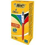 BIC 4-Farb-Druckkugelschreiber Fine | 4 in 1 Kugelschreiber | Rot, Blau, Schwarz und Grün |...
