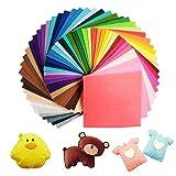Jingxu 60 Farben Filzstoff 15 x 15cm Bastelfilz Filz Blätter Polyester Felt Fabric DIY Stoff...