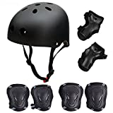 SymbolLife Skateboard / Skate Protektoren Set mit Helmet -- Skate Helmet Knie Pads Elbow Pads mit...