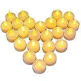 24 LED Kerzen, Diyife LED Flammenlose Tealights, Flackern Teelichter, elektrische Kerze Lichter...