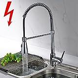 Aimadi Niederdruck Küchenarmatur Wasserhahn Mischbatterie 360° drehbar Küche Armatur...