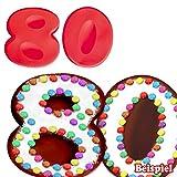 Backformen-Set Zahl 8 und 0 für 80. Geburtstag / Hochzeitstag, Silikonbackformen