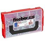 Fischer 536162 FIXtainer - Die DUOPOWER-Dübel-Schrauben-Box, Universaldübel Schrauben Set, 210...