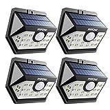 【ERWEITERTE VERSION】Mpow Weitwinkel Solarleuchte, 20 LED Superhelles Bewegung Solarlicht,...