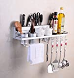 Multifunktions Küche Rack Organizer Regale - Wand hängende Aluminium Küche Rack von Wand Regal,...