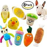 ulable Quietschendes Hundespielzeug, PET PUPPY Plüsch Sound kauen Spielzeug-Set für kleine medium...
