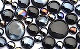 330 Gramm Dekosteine Glasnuggets Schwarzmix, in 3 versch. Größen 10-33 mm, ca.80 St. Nicht...