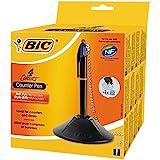 BIC Counter Pen - 4 Farb Kugelschreiber mit Kette & Ständer/Inkl. 4 austauschbaren blauen Minen mit...
