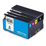 Mycartridge 4 Pack kompatibel HP 953XL 953 XL Druckerpatronen für HP OfficeJet Pro 7720 7730 7740...