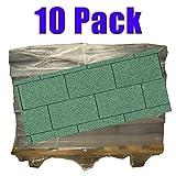 10er Pack Dachschindeln Rechteck Grün 10x 3 m² = 30 m²
