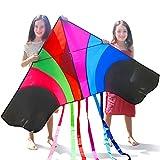 Tomi Kite–Riesiges Regenbogen Drachen, Ideal per Kinder und Erwachsene–Einfach zu fliegen bei...
