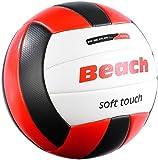 PEARL sports Volleyball: Beachvolleyball mit griffiger Soft-Touch-Oberfläche aus Kunstleder (Beach...