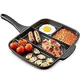 VonShef All-in-One Multipfanne Bratpfanne für mehrere Speisen / 4-in-1 Grill mit mehreren Bereichen...