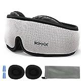 HOMMINI Reise Schlafmaske für Damen und Herren, Premium Schlafbrille 3D mit verstellbarem Band...