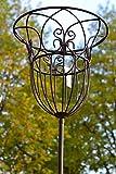 Gartenstecker Korb- hübscher Gartenstecker mit Korb vielseitig nutzbar für Pflanzen, Kerzen ,...