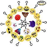 QMAY Emoji Keychain Schöne Emoji Schlüsselanhänger, 20 Pack Mini Emoji Plüsch Kissen...