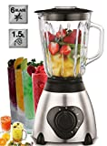 Standmixer 800 Watt Glas Edelstahl | Smoothie Maker | Mixer | Universal Power Mixer | 1,5 Liter |...