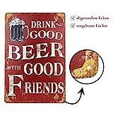 Blechschild Bier Retro-Schild Vintage Magnet-Metallschild Werbeschild 20x30 cm Türschild Bier...