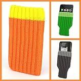 Incutex Handysocke Textilsocke Handy Sleeve orange Handytasche aus Textil für iPhone 3 4 5 iPod...