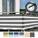 Sol Royal Balkon-Sichtschutz SolVision 500x90cm - witterungsbeständige Balkon-Umspannung Windschutz...
