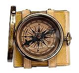 '' Robert Frost Gedicht '' bestes Weihnachtsgeschenk gravierte Messingkompass mit Emboss Nadel &...