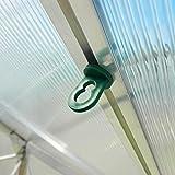 50x Gewächshausclips - Stabile Pflanzenhalter Aufhängevorrichtungen Ösen für Gewächshaus,...