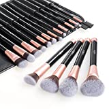 Anjou Make Up Pinsel Set 16pcs Professionelles rosegoldenes Schminkpinsel Kosmetikpinsel Lidschatten...